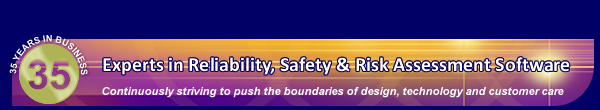 Experts in reliability, safety and risk assessment software