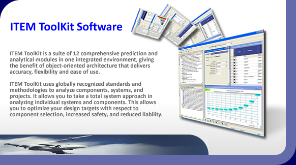 Reliability prediction, availability, maintainability and safety software.