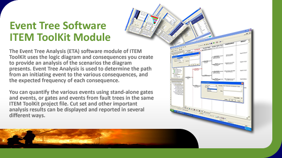 Event Tree analysis software (ETA) using logic diagrams and consequences.