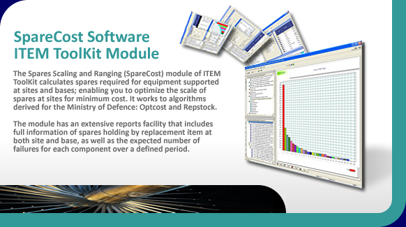 SpareCost software for spares optimization and cost based spares analysis