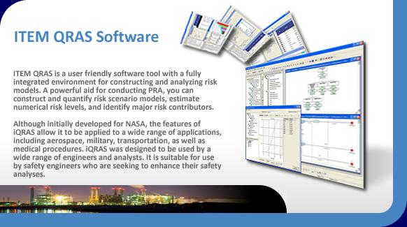 ITEM QRAS quantitative risk assessment system software.