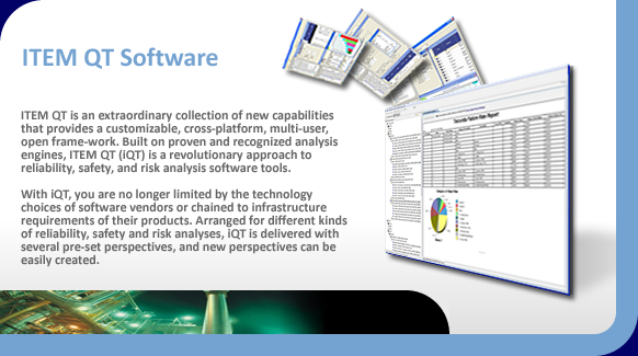 ITEM QT for reliability, safety and risk assessment software.