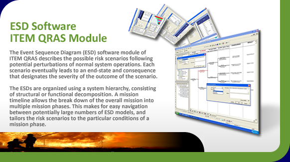 Event Sequence Diagrams (ESD) describe risk scenarios of system operations.
