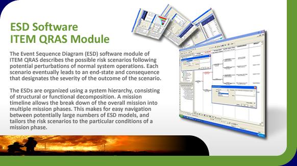 Event Sequence Diagrams (ESD) describe risk scenarios of system operations.