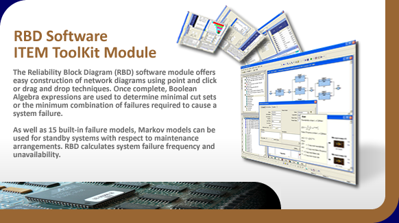 Reliability Block Diagram (RBD analysis) software.
